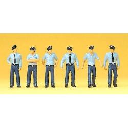 Set de 6 Pompiers allemands en Tenue été