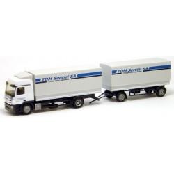 MB Actros L 08 camion + rqe bâchée TDM Servizi (CH)