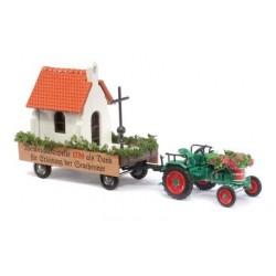 """Tracteur agricole Kramer + rqe décorée """"façon Parade"""""""