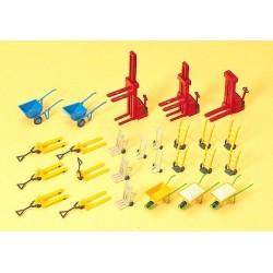 Set de chariots-élavteurs et outils de transport