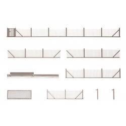 Clôture métallique avec portes et poteaux (101 cm de long)