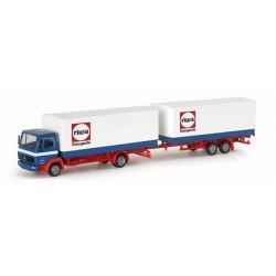 MB LP 814 camion + rqe bâchée Riwatrans