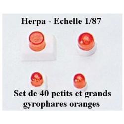 Set de 40 gyrophares oranges petits et grands