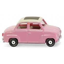 Goggomobil Glas rose à Toit fermé blanc