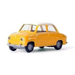Goggomobil Glas jaune à toit blanc