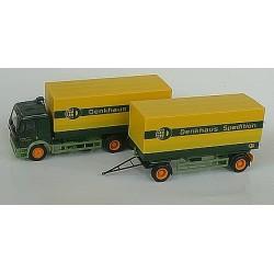 MB SK 94 camion + rqe Pte caisses bâchées Denkhaus