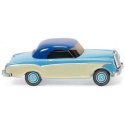 MB 220 coupé bicolore bleu et crème