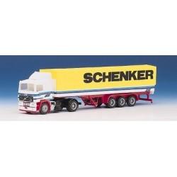 """Volvo F12 """"STS"""" + semi-rqe bâchée Schenker (Austria)"""