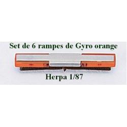 Set de 6 rampes de feux oranges Techno Design pour camion