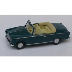 Peugeot 403 cabriolet ouvert 1957 vert foncé