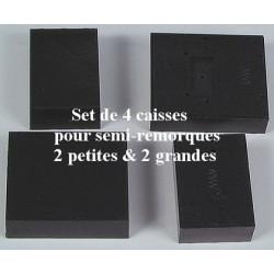Set de 4 Caisses pour semi-remorques