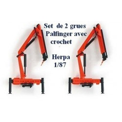 Set de 2 Grues Palfinger avec crochet