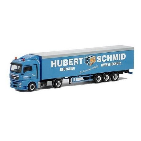 MAN TGX XLX + semi-rqe benne à fond mouvant Hubert Schmid