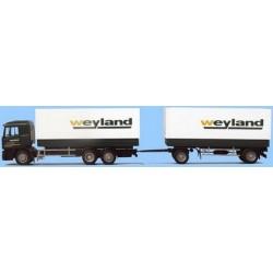 Steyr F2000 camion 6x2 + rqe bâchés Weyland (A)