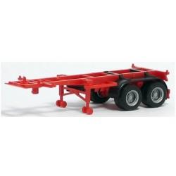 semi-remorque Porte Container 20' rouge