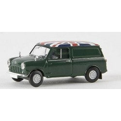 "Austin Mini Countryman Van verte ""Union Jack"""