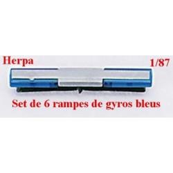 Set de 6 rampes de feux bleus pour cabine camion