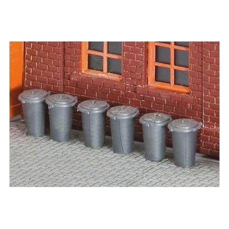 Set de 10 poubelles (6 rondes et 4 carrés)