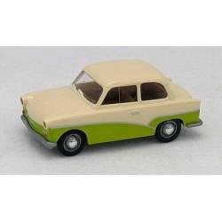 Trabant P50 1954 crème et verte