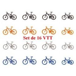 Set de 16 VTT (4 couleurs différentes)