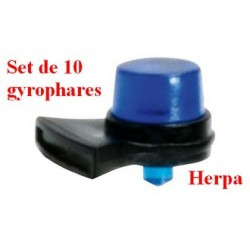 Set de 10 gyrophares bleus type Tesla