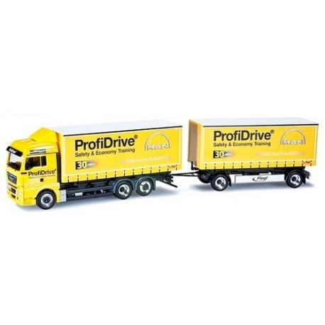 """MAN TGX XLX camion + rqe Pte caisses """"Profidrive MAN"""""""