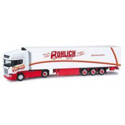 Scania R TL Streamline + semi-rqe frigo Röhlich