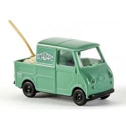 """Goggomobil Pick-up """"Schwarzbau"""" avec chargement et pelle"""