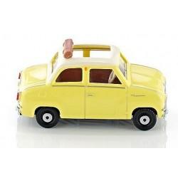 Goggomobil Glas jaune à toit ouvert blanc