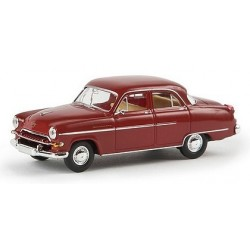 Opel Kapitän 1954 berline 4 portes rouge bordeaux
