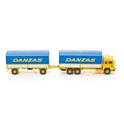Magirus-Deutz 235 D camion + rqe bâchée Danzas