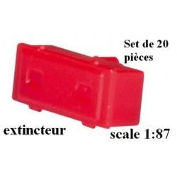 set de 20 extincteurs pour semi-rqe citerne