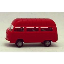 VW T2 minibus rouge à toit réhaussé