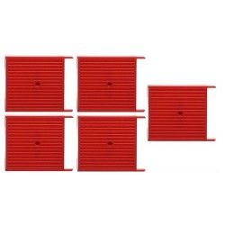 Set de 5 caisses à palettes fermées et rouges