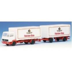 MB LP 814 camion 4x2 + remorque fourgon brasseur Patrizier Brau