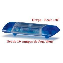Set de 10 rampes de feux bleus Hella RTK-7