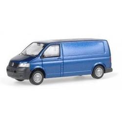 VW T5 fourgon bleu métallisé