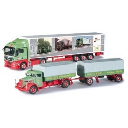 Set Wandt : MAN F8 camion + rqe & MAN TGX XLX + semi-rqe fourgon