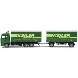 MAN TGA LX camion 6x2 + rqe Pte caisses tautliner Keiler Spediti