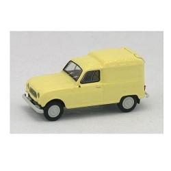 Renault F4 fourgonnette 1961 jaune pastel