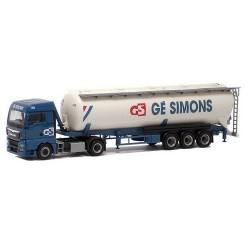 MAN TGX XLX Euro 6 + semi-rqe silo Ge Simons (NL)