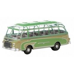 Setra S6 autocar avec voussoirs vert et gris