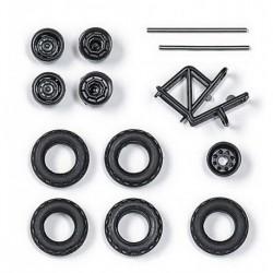 Set de roues de camion tout terrain (diamètre : 12 mm) - jantes blanches ou noires