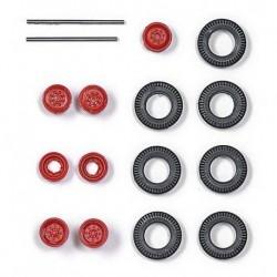 Set de roues de camion (diamètre : 11 mm) jantes rouges