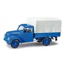 Framo 901/2 camion bleu à bâche grise 1957