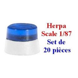 Set de 20 gyrophares bleus