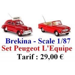 "Set de 2 Peugeot 203 & 403 ""L'Equipe"""