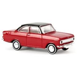 Opel Kadett A coupé 1962 rouge Tt noir