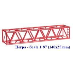 Set de 2 éléments de grue Liebherr rouge (25 mm)