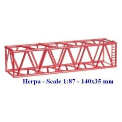 Set de 2 éléments de grue Liebherr rouge (35 mm)
